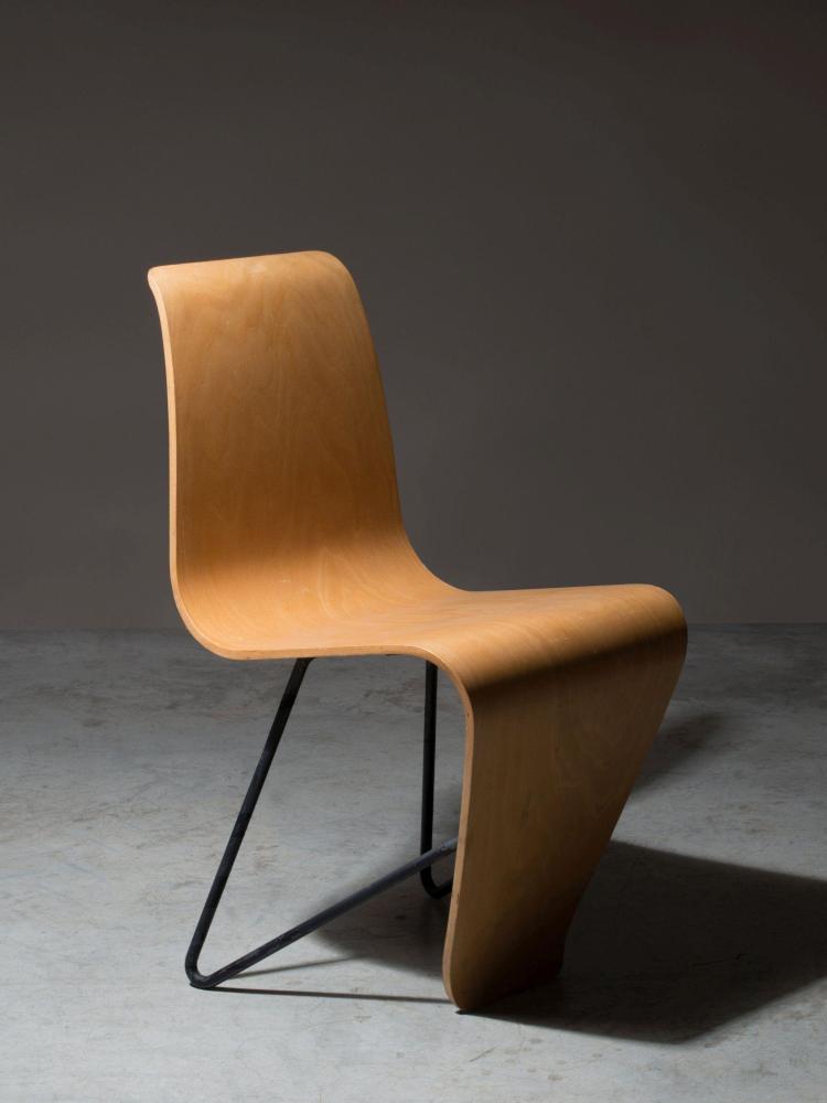 Andr bloc 1896 1966 chaise dite bellevue 1951 pi te - Refaire assise chaise ...