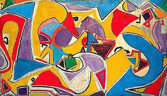 Alexandre ISTRATI (1915-1991) SANS TITRE, circa 1950 Huile sur toile signée en...