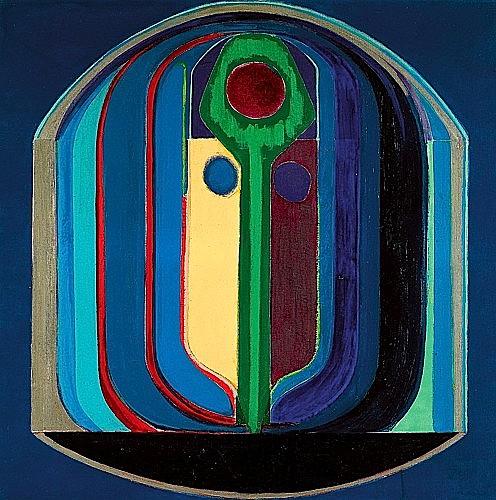 Claude BELLEGARDE (né en 1927) LE CAPRICORNE Huile sur toile signée et titrée ...