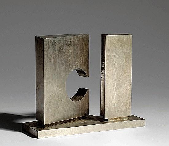 Marino DI TEANA (né en 1920) COMPOSITION Sculpture en acier signé du monogramm...