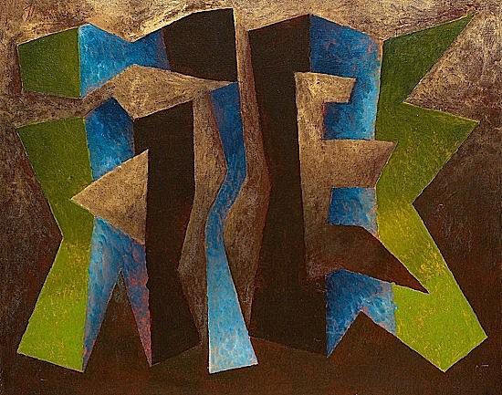 Léon GISCHIA (1903-1991) COMPOSIZIONE, FONDO BRUNO, 1974 Huile sur toile signé...