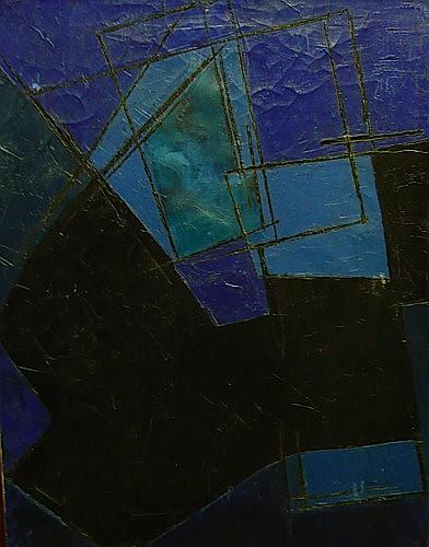 André BLOC (1896 - 1966) COMPOSITION ABSTRAITE Huile sur toile signée au dose...