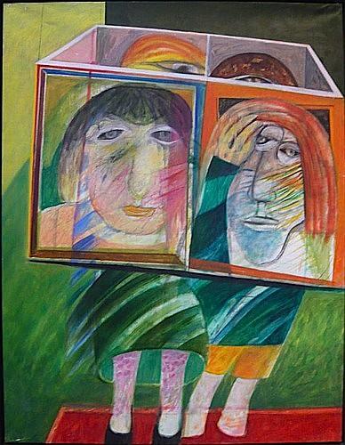 Martin ENGELMAN (1924 - 1992) KALEIDOSCOPE 1967 Huile sur toile signée, titrée...