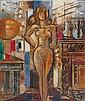 Marcel GROMAIRE (1892-1971) NU DEBOUT, MEUBLE ET CUIVRE, 1959 Huile sur toile, Marcel Gromaire, Click for value
