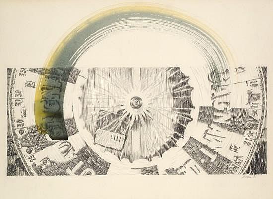 Ivan MESSAC (Né en 1948) SANS TITRE, 1980 Dessin au crayon et aquarelle sur papier