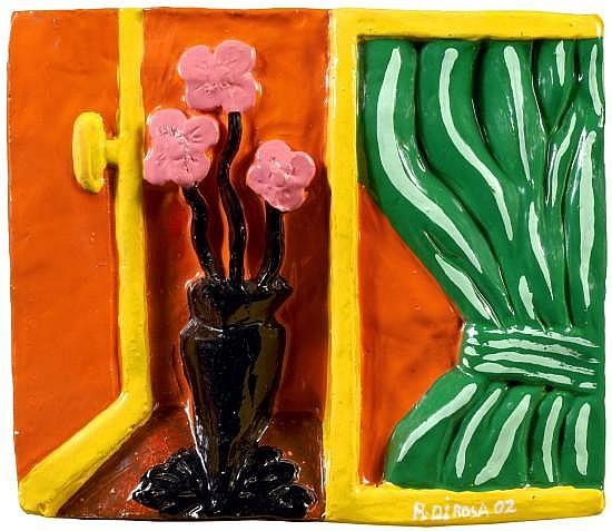 Richard (Buddy) DI ROSA (né en 1963) SANS TITRE, 2002-2005-2006 Ensemble de quatre céramiques