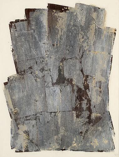 Anna Eva BERGMAN (née en 1909) N°25-1960, 1960 Tempéra et feuille de métal sur papier