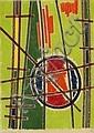 Jean LEPPIEN (1910 - 1991) COMPOSITION ABSTRAITE, 1950 Pastels gras de couleurs sur papier marouflé sur panneau, Jean Leppien, Click for value