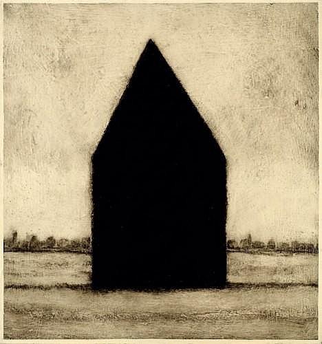 Loïc LE GROUMELLEC (né en 1958) MAISON, 1994 Laque sur toile