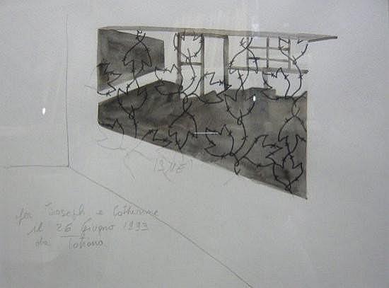 Tatiana TROUVE (née en 1968) SANS TITRE, 1993 Dessin à l'encre, mine de plomb et feutre sur papier