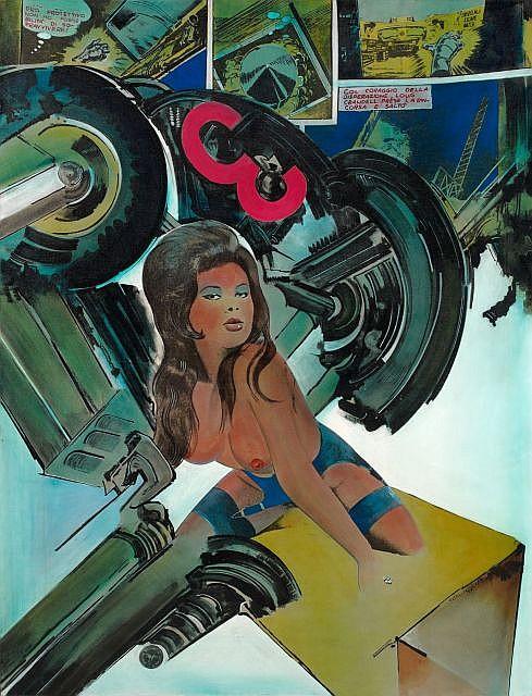 Gianni BERTINI (né en 1922) VENUS A HYDROGENE, 1964 Acrylique sur report photographique sur toile