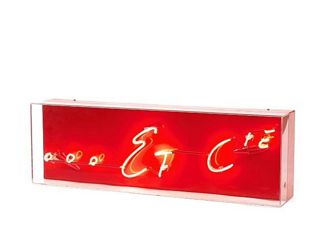 Anne-Marie JUGNET/Alain CLAIRET (née en 1958-né en 1950) ....ET CIE, 1997 Néon rouge dans emboîtage en plexiglas