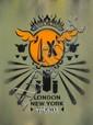 D*FACE () IN DOG WE TRUST, 2006 Pochoir, peinture aérosol et marqueur sur toile