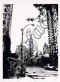 Nick WALKER (né en 1969) THE EMPIRE'S STATE, 2010 Sérigraphie sur papier rehaussée à l'acrylique