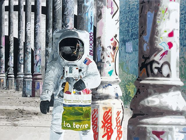 Antoine GAMARD (né en 1977) SPACE ODDITY, 2011 Acrylique sur toile