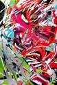 LOKISS (né en 1968) SILVER FACES VS COMPUTERS, 2012 Remix acrylique d'un tirage numérique sur toile