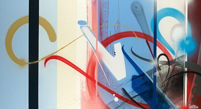 SMASH137 (né en 1979) BUILDING ONE-THREE-7, 2011 Acrylique, encre et peinture aérosol sur toile