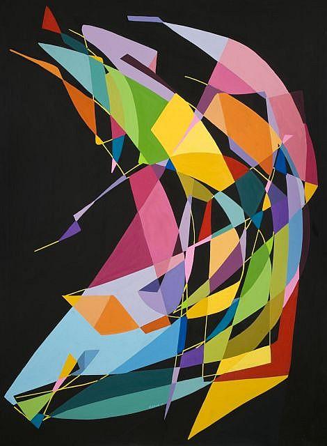 KENOR (né en 1976) CUERPO-MOVIMIENTO, 2010 Acrylique sur toile