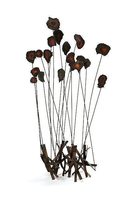 William BOWIE (1926-1994) Sculpture - Circa 1970 Base et tiges en cuivre