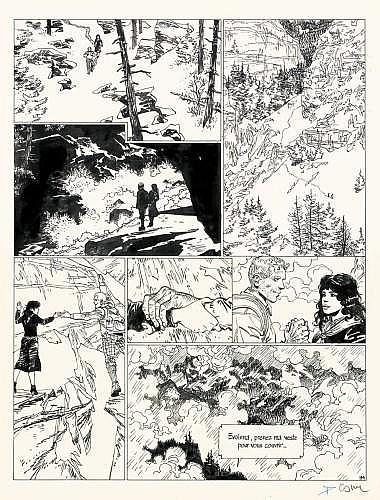 COSEY Bernard Cosandey dit (né en 1950) À la recherche de Peter Pan Encre de Chine pour la planche 94 de cette série débutée en...