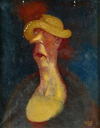 DUBOUT Albert (1905-1976) Portrait de femme Huile sur toile montée sur châssis, vraisemblablement réalisée dans les années 50. ...