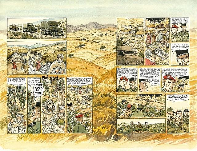 FERRANDEZ Jacques (né en 1955) Carnets d'Orient Encre de Chine et mine de plomb pour la double planche 42 et 43 de l'album «La...