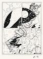 GIGI Robert (1926-2007) Agar Encre de Chine, feutre noir et rehauts de gouache blanche pour la planche 1 de l'album «Les jouet..., Robert  Gigi, Click for value