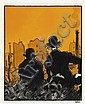 TARDI Jacques (né en 1946) Rue des Rebuts Encre de Chine, crayon gras et encre de couleur pour une des illustrations de l'ouvra..., Jacques Tardi, Click for value
