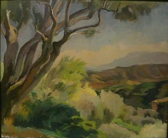 Adolphe MILICH (1884 - 1964) LE MIDI, 1931 Huile sur toile