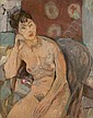 Lazare VOLOVICK (1902-1977) SOLANGE ASSISE Huile sur toile, Lazare Volovick, Click for value