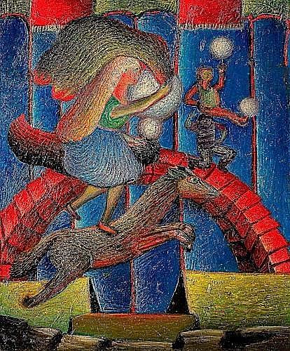 Aristide CAILLAUD (1902-1990) LE CIRQUE, 1957 Huile sur toile