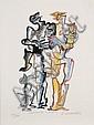 ¤Ossip ZADKINE (1890-1967) LA BELLE ET LA BETE , 1967