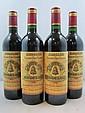 4 bouteilles CHÂTEAU ANGELUS 1990 1er GCC (B) Saint Emilion (étiquettes fanées dont une déchirée)