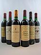 10 bouteilles  1 bt : CHÂTEAU GLORIA 1988 CB Saint Julien (base goulot, étiquette fanée) 2 bts : CHÂTEAU GLORIA 1989 CB Saint Juli...