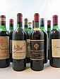 11 bouteilles  1 bt : CHÂTEAU LA FLEUR GAZIN 1964 Pomerol (légèrement bas) 1 bt : CHÂTEAU PHELAN SEGUR 1961 CB Saint Estèphe (mi-é...