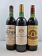 3 bouteilles 1 bt : CHÂTEAU CHASSE SPLEEN 1982 CB Moulis (étiquette tachée)