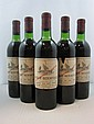 5 bouteilles CHÂTEAU BEYCHEVELLE 1973 4è GC Saint Julien (étiquettes fanées