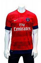 THE FRENCH CHAMPIONS 2012/2013 COLLECTOR'S SHIRTSigned by the Paris Saint Germain team and former French championship players