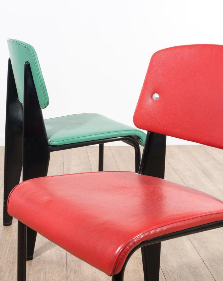 jean prouve 1901 1984 paire de chaises mod m tropole 306. Black Bedroom Furniture Sets. Home Design Ideas