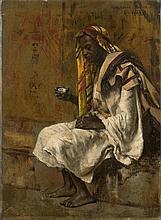 Edwin Lord WEEKS 1849 - 1903 Maure buvant le thé Huile sur toile