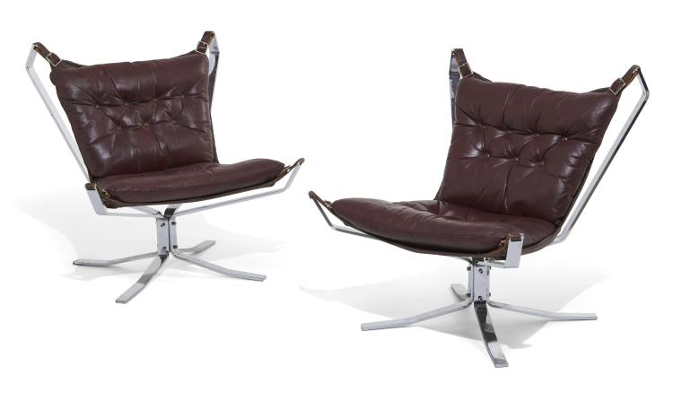 Sigurd RESSELL (1920-2010) Paire de fauteuils dits