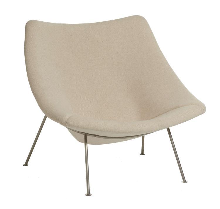 pierre paulin 1927 2009 fauteuil mod cm137 dit oyster. Black Bedroom Furniture Sets. Home Design Ideas