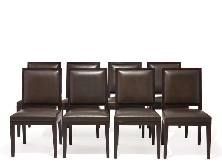 Christian LIAIGRE (Né en 1943) Suite de huit chaises dites