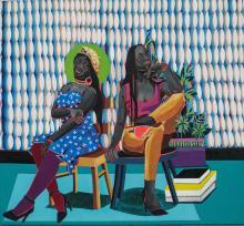 Adolf TEGA Né en 1985 - Zimbabwe Sans titre Acrylique sur toile