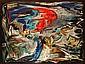 James PICHETTE (1920-1996) COLLIOURE SUR TERRE D''OMBRE, 1958 huile sur toile, James Pichette, Click for value