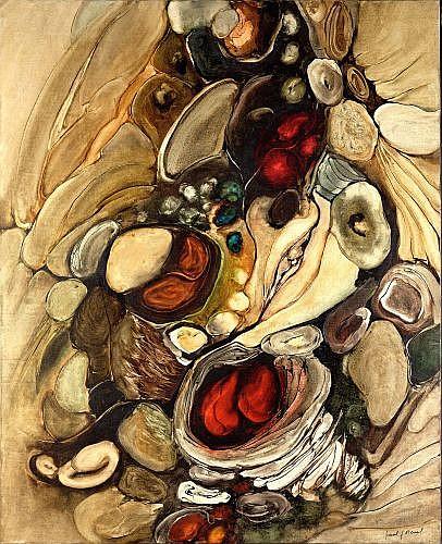 Paul Jean REVEL (1922 - 1982) COMPOSITION huile sur toile