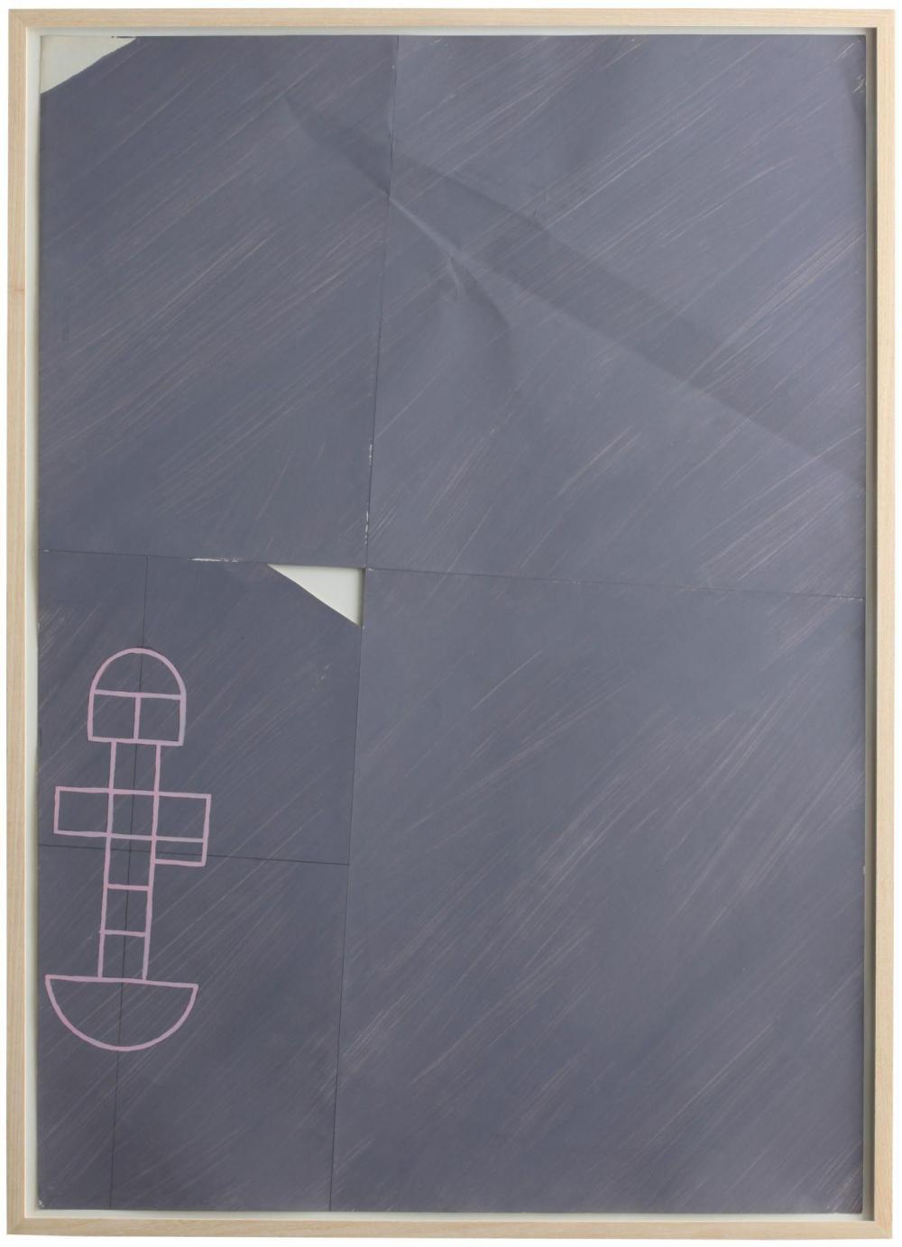Claude Rutault (né en 1941) Marelle, 1974 Acrylique sur papier