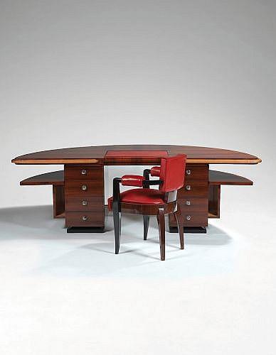 Louis SOGNOT (1892 - 1970) Bureau et son fauteuil