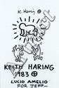 Keith HARING (1958-1990) SANS TITRE, 1983 Marqueur noir sur fond d'affiche