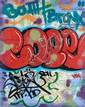 COPE 2 (Fernando Carlo dit) (né en 1968) SANS TITRE, 2011 Peinture aérosol et marqueur sur plan de New York (MTA)